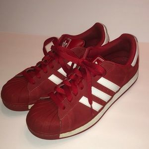 ✅Adidas Superstar II PT Red/White Sneakers